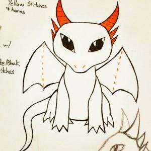 Dragon Plushie Concept Art