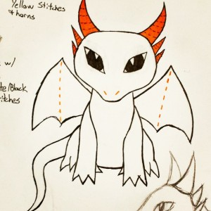 Dragon Plushie Concept Art