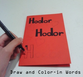Draw and Color-in words
