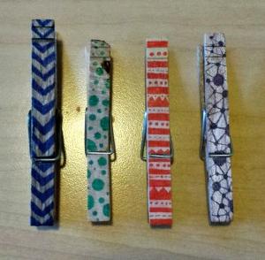 Color clothespins
