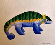 Ankylosaurus Watercolor