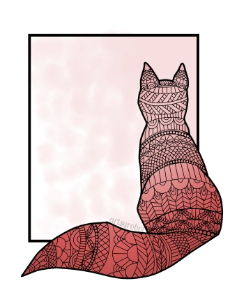 Patterned Cat-Colored