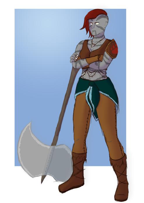 """Kuori """"Beastender"""" Clan of Kalagiano, the Goliath Barbarian"""