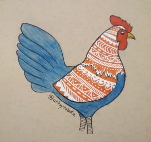 Zentangle Rooster