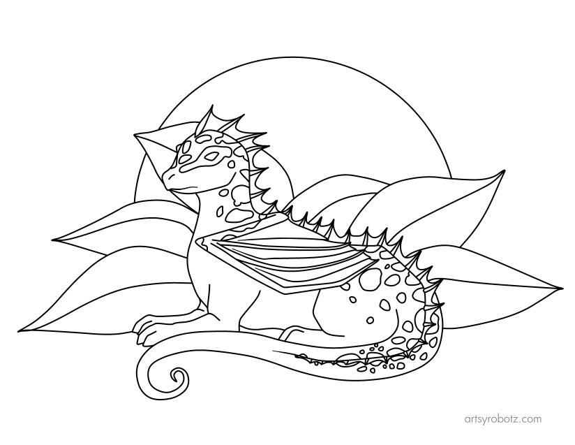 Poison Dragon Coloring Page