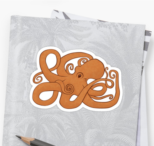 Redbubble Octopoda Sticker